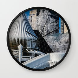 to the ice castle Wall Clock