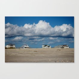 Clouds Over Beach Houses Canvas Print