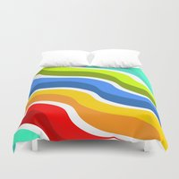bacon Duvet Covers featuring Bacon by Roberlan Borges