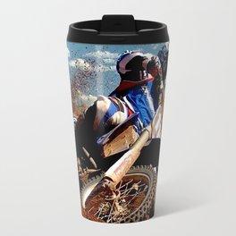 Motocross Dirt Track Motorcycle Racing Print Travel Mug