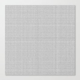 black and white tiny grid Canvas Print
