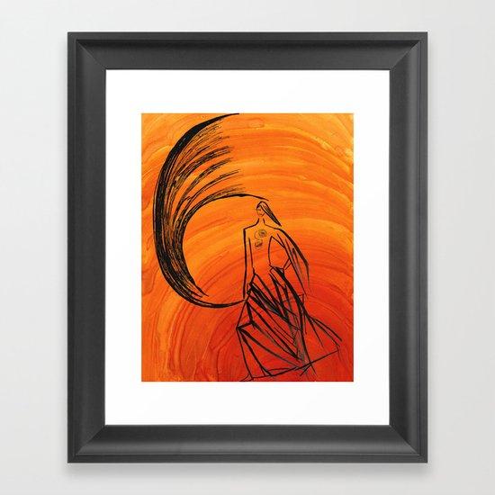 Angel under cover Framed Art Print