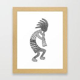 Tangled Kokopelli Framed Art Print