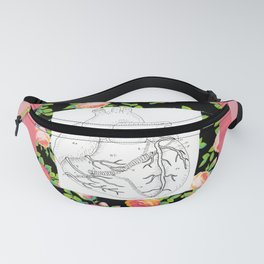 floral heart Fanny Pack