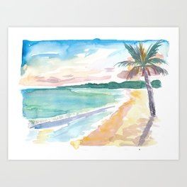 Grand Anse Beach Caribbean Vibes In Grenada Art Print