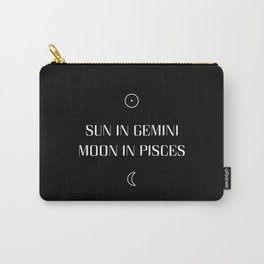 Gemini/Pisces Sun and Moon Signs Carry-All Pouch