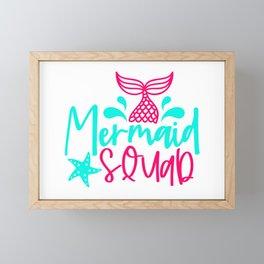 Mermaid squad Framed Mini Art Print