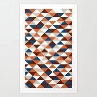 Triangle Pattern #5 Art Print