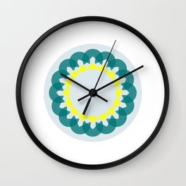 neon kaleidoscope Wall Clock