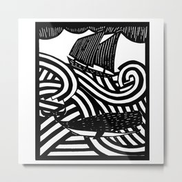 Herman - Paper Cut Illustration. 2015 Metal Print