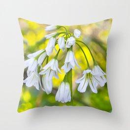 White woodland flora. Throw Pillow
