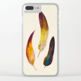 Three Feathers Clear iPhone Case