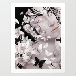 Leucism Art Print