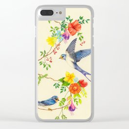 Summer Roundelay Clear iPhone Case