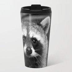 Racoon B & W Travel Mug