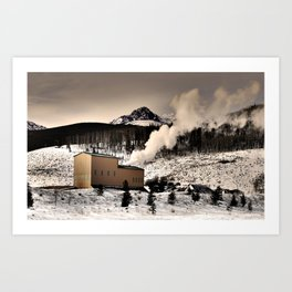 Colorado Smokestack Art Print