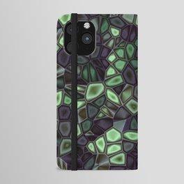 Fractal Gems 04 - Emerald Dreams iPhone Wallet Case