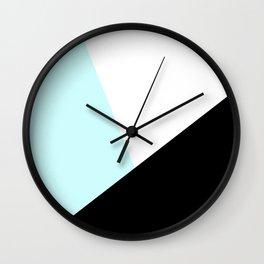 Trichromatic Aqua Blue Wall Clock