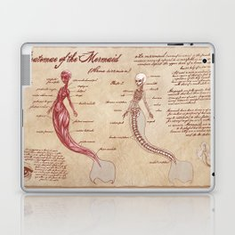 Anatomy of the Mermaid Laptop & iPad Skin