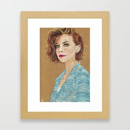 Lauren Cohan Framed Art Print