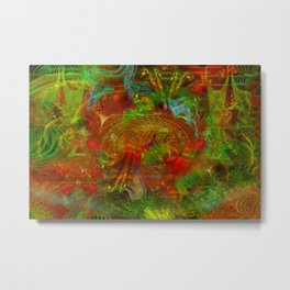 Swirling Stew (abstract, psychedelic, visionary) Metal Print
