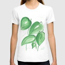 Green leafs T-shirt