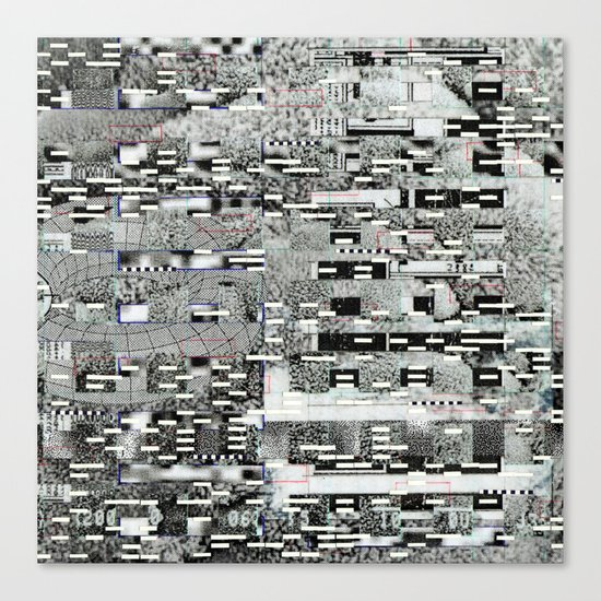 Highly Resolved Ghost (P/D3 Glitch Collage Studies) Canvas Print