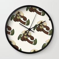 running Wall Clocks featuring Running by Leodoglover