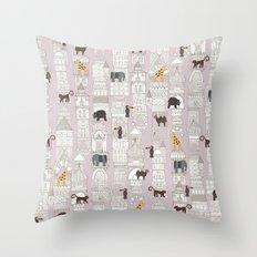 urban jungle blush pink Throw Pillow
