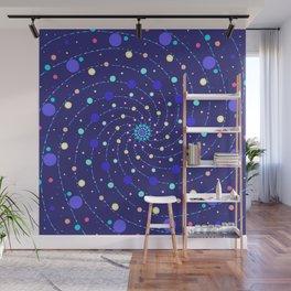 Blue Ray Star Mandala Wall Mural