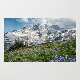 Scenic Landscape Art, Mt. Rainier, Mt. Rainier National Park, Paradise Rug
