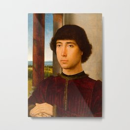 "Hans Memling ""Portrait of a Young Man"" Metal Print"