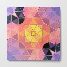 yellow pink violet black sqaure Metal Print