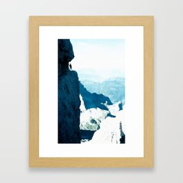 Almost there #Mountain #1 #art #society6 Framed Art Print