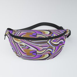 Retro Renewal - Purple Waves Fanny Pack