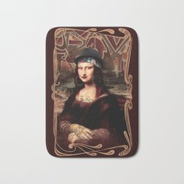 Chicana Mona Lisa Bath Mat