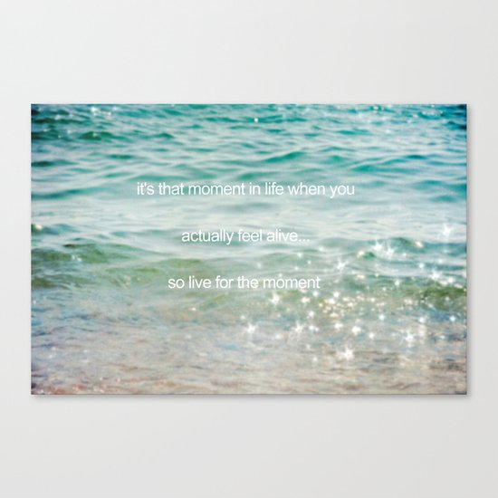 It's that moment in time Canvas Print
