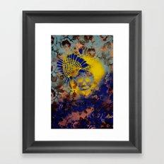 Pineapple Flower Skull Framed Art Print