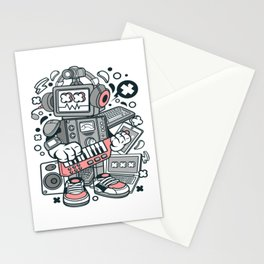 Robot Machinefor animated characters comics and pop culture lovers Stationery Cards