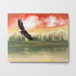 Eagle Fly Metal Print