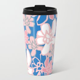 Camelia Woodcut Travel Mug