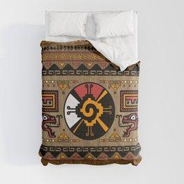 Colorful Hunab Ku Mayan symbol #5 Comforters