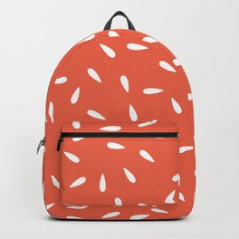 Water Drops on Orange Coral Background Backpack
