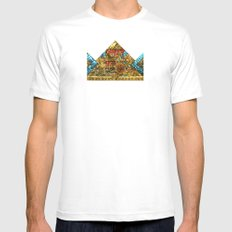 CROWN Mens Fitted Tee White MEDIUM