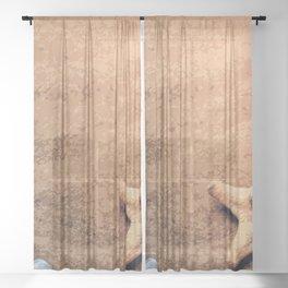 Of Sand and Seashells Sheer Curtain