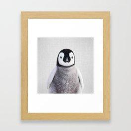 Baby Penguin - Colorful Framed Art Print