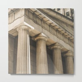 Federal Hall, New York photography, architecture, building, Hasselblad, Fine art Metal Print