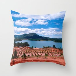Magic Lake of Central Highland in Vietnam Throw Pillow