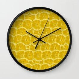 Lemon Pattern Wall Clock