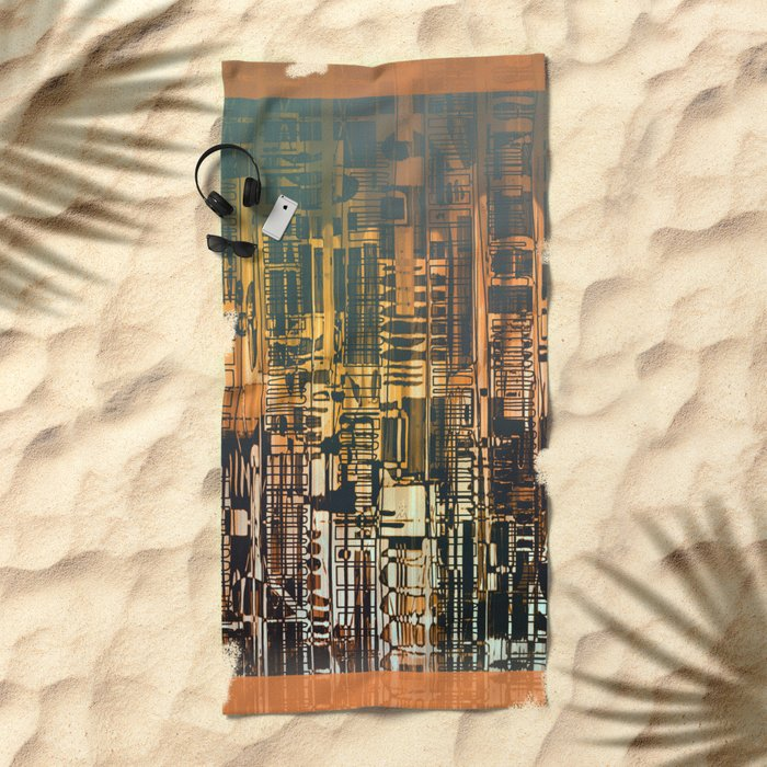 Density / Urban Beach Towel